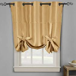 Royal Hotel Soho Gold Tie Up Shade, Blackout Window Curtain