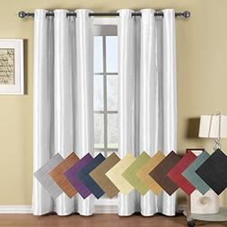Royal Hotel Soho White Grommet Blackout Window Curtain Panel
