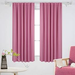 Deconovo Solid Back Tab and Rod Pocket Curtains Room Darkeni