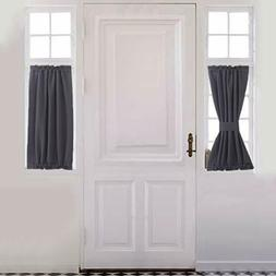 Aquazolax Kitchen Door Curtain Panel Solid Blackout Curtains
