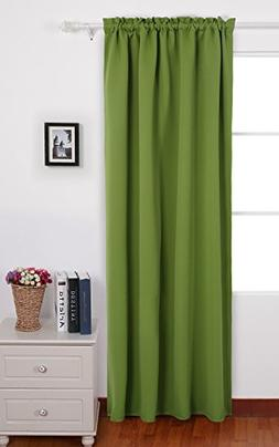 Deconovo Solid Blackout Curtains Rod Pocket Curtain Thermal