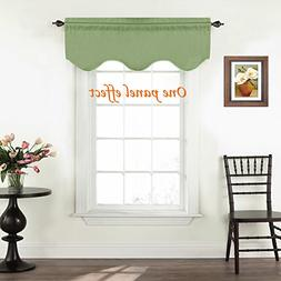 Turquoize Window Valances for Kitchen Rod Pocket Scalloped C