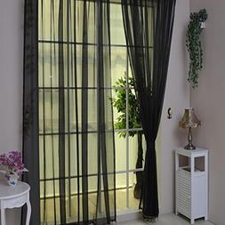 BSGSH Solid Color Decorative Sheer Curtain/Window Treatments