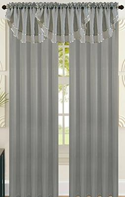 All American Collection New Solid Double Layer Sheer Waterfa