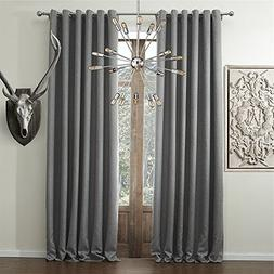 IYUEGO Wide Curtains 120Inch-300Inch for Large Windows Solid