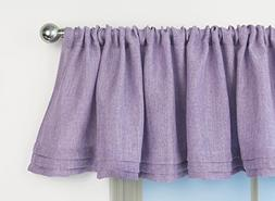Aiking Home Solid Faux Linen Pleated Valance 56 By 14 Inches