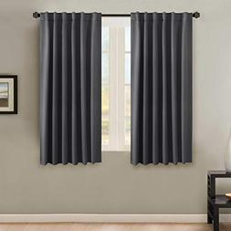 H.VERSAILTEX Solid Insulated Thermal Blackout Grey Curtains