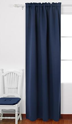 Deconovo Solid Rod Pocket Blackout Curtains Room Darkening P