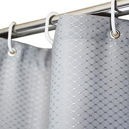 Eforcurtain Solid Rustic Waffle Shower Curtain for Hotel, Wa