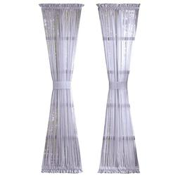 Solid Sheer Rod Pocket Patio, Back door, Front door Curtain