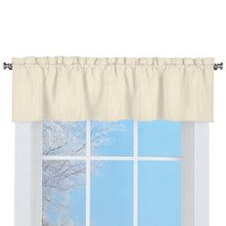 Solid Textured Swag Window Valance with Rod Pocket Top for E