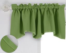 Deconovo Solid Color Valance Rod Pocket Curtains Short Windo