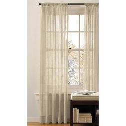 Best Token 2-piece Solid Voile Sheer Curtains Rod Pocket Pan
