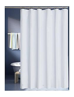 LanMeng Solid White Fabric Shower Curtain Liner, Extra Long,