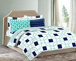 Bombay Dyeing Solitaire 100%Cotton King Size Bedsheet with 4
