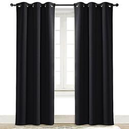 Soundproof Thermal Insulated Grommet Blackout Curtain Drape