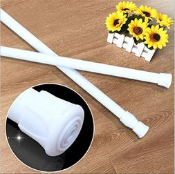 avesplit Spring Tension Curtain Rod 1 pcs stretchable No nee