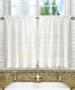 Ellis Curtain Stacey 56-by-24 Inch Tailored Tier Pair Curtai