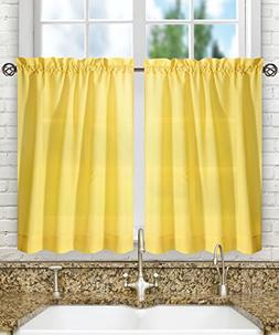 """Ellis Curtain Stacey Tailored Tier Pair Curtains, 56"""" x 36"""","""
