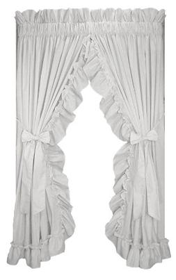 Stephanie Country Ruffle Priscilla Curtains Pair 86-Inch-by-