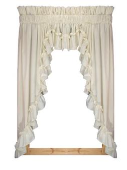 Stephanie Country Style Ruffle 3 Piece Swag Curtains Set 132