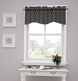 Traditions by Waverly Strands Window Valance, Tuxedo