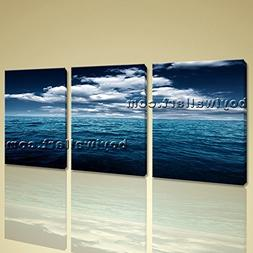 Large Stretched Contemporary Seascape Wall Art Canvas Print