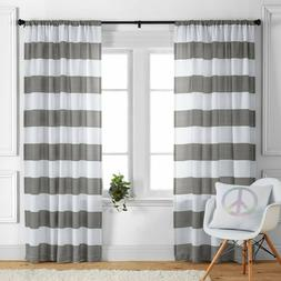 Better Homes Gardens Stripes Curtain Panel, 52x63, Gray