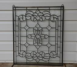 Stunning Tiffany Style stained glass Clear Beveled window pa