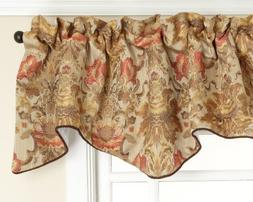 Stylemaster Como Lined Scalloped Valance with Cording, Tusca