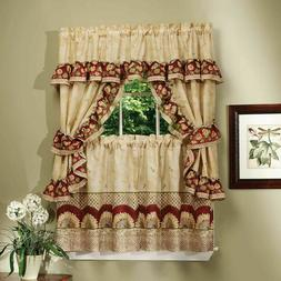 Sunflower Complete 5 Pc. Cottage Kitchen Curtain Set - Assor