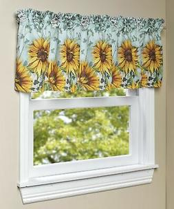 Sunflower Window Valance - Farmhouse Kitchen, Bathroom Curta