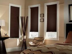 Sunlera Cordless 9/16 Inch Blackout Single Cell Shades 24 In