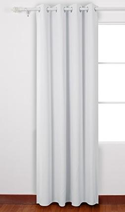 Deconovo Solid White Curtains Grommet Top Curtains Thermal I