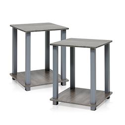 End Table Grey In Premium Square Zen Modern Design As Night