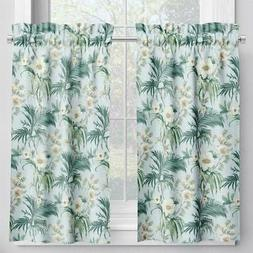 Carolina Linens Tailored Tier Cafe Curtains in Isabella Sky