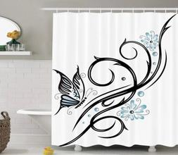 Ambesonne Tattoo Butterfly Shower Curtain Brand New