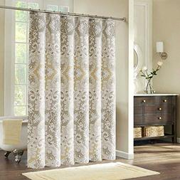 Ufriday Roman Style Floral Pattern Shower Curtain Fabric Mil