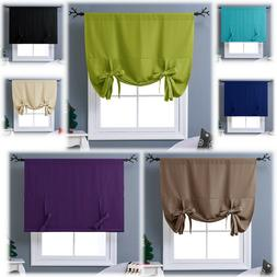 Thermal Drapes Curtains Tie Up Insulated Shades Kitchen Shor