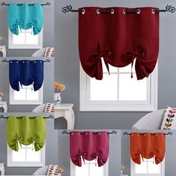 Thermal Drapes Curtains Tie Up Insulated Shade Kitchen Short