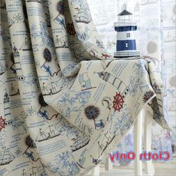 Thermal Insulated Blackout Curtain Bedroom Blinds Nautical E