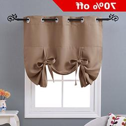 NICETOWN Thermal Insulated Balloon Curtain - Tie Up Shade Pa