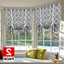 H.VERSAILTEX Thermal Insulated Blackout Curtains - Tie Up Sh