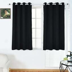 BOBLANCA Thermal Insulated Blackout Curtains 52X63 Inch Blac