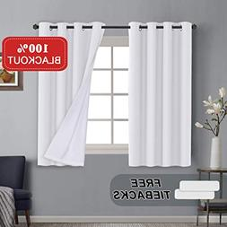 Thermal Insulated Blackout Curtains 63 Length Bedroom Window