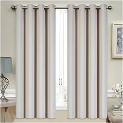 Mellanni Thermal Insulated Blackout Curtains - 2 Panels - Wi