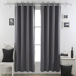 Deconovo Thermal Insulated Blackout Curtains Lined Polar Fle