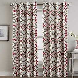 thermal insulated blackout curtains living room dining