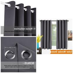 Thermal Insulated Blackout Curtains Room Darkening Drapes 52
