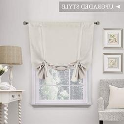H.VERSAILTEX Thermal Insulated Blackout Tie Up Curtain, Adju